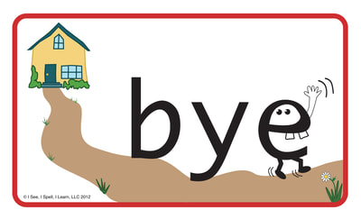 Picture Homophone™ Card - Bye