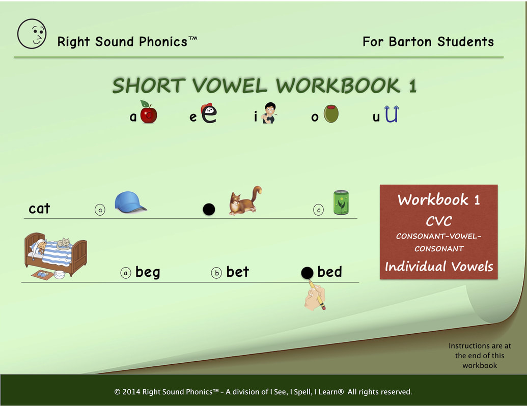Sight Words & Short Vowel Workbooks for Barton Students - I See, I ...