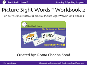 Picture Sight Words Workbook2
